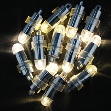 5x светодиодный вечерние шары огни водонепроницаемый теплый белый лампа украшение для бумажных фонарей включают батареи