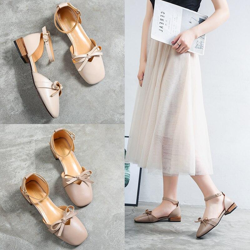 Billiger Preis Schuhe Frau Sandalie 2018 Casual Schuhe Low-heels Frühling Sommer Schuhe Große Größe Starke Verpackung