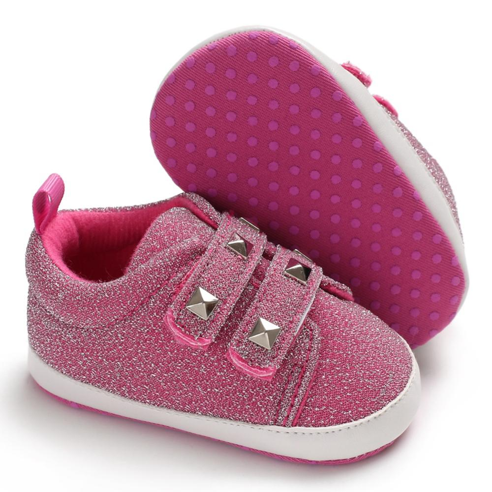 Summer Baby Girl Boy Breathable Anti-Slip Rivet Design Shoes Sneakers Toddler Soft Soled First Walkers 0-18M New