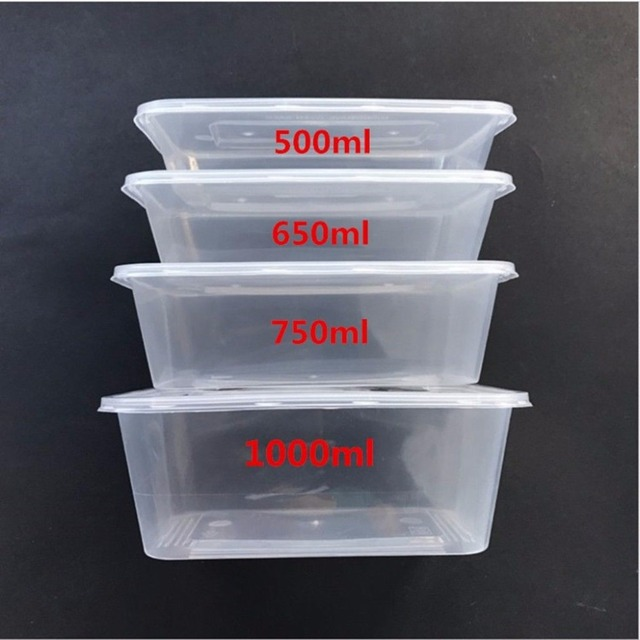 Food Containers Plastic Takeaway Microwave Freezer Safe Storage