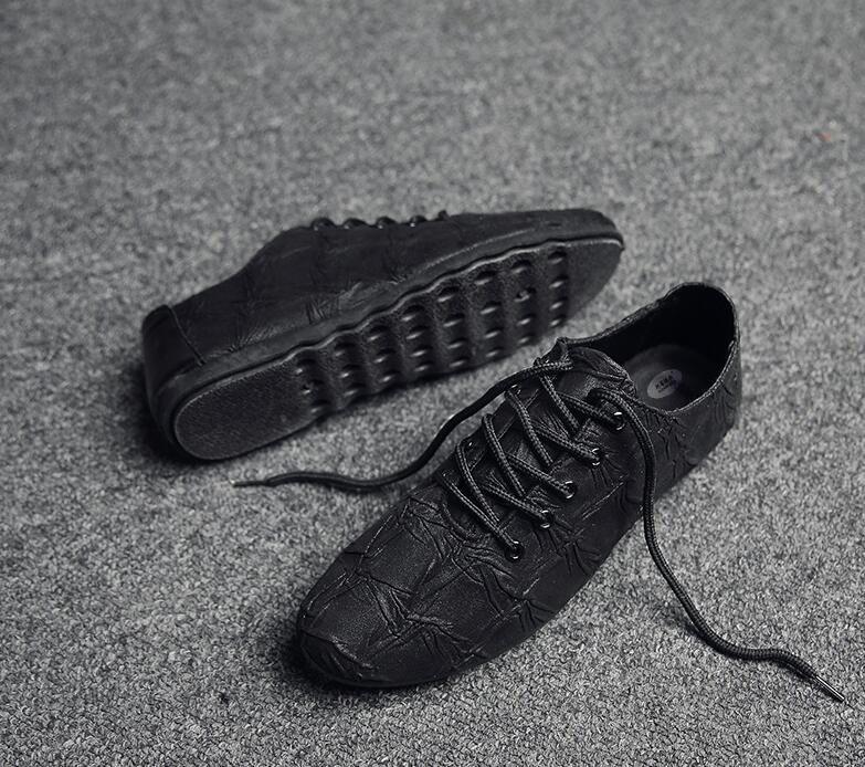 Macho 2017 Casuais 1 Para Couro Up O Derrapante Saltos Moda Do Nova Homens Genuíno Calçados Oxfords 2 Dos Lace Tamanho Anti Sapatos De RqRaCnZw