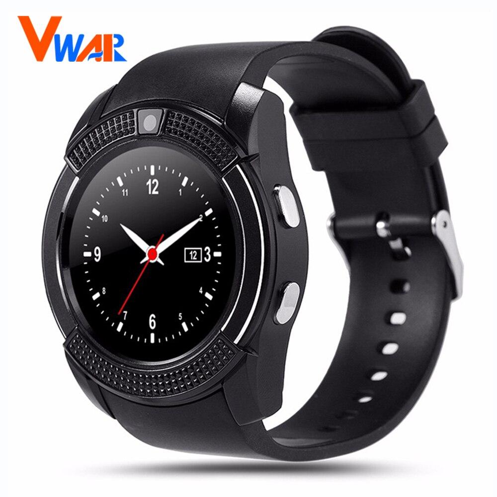 V8 smart watch reloj con ranura para tarjeta sim tf bluetooth conectividad para