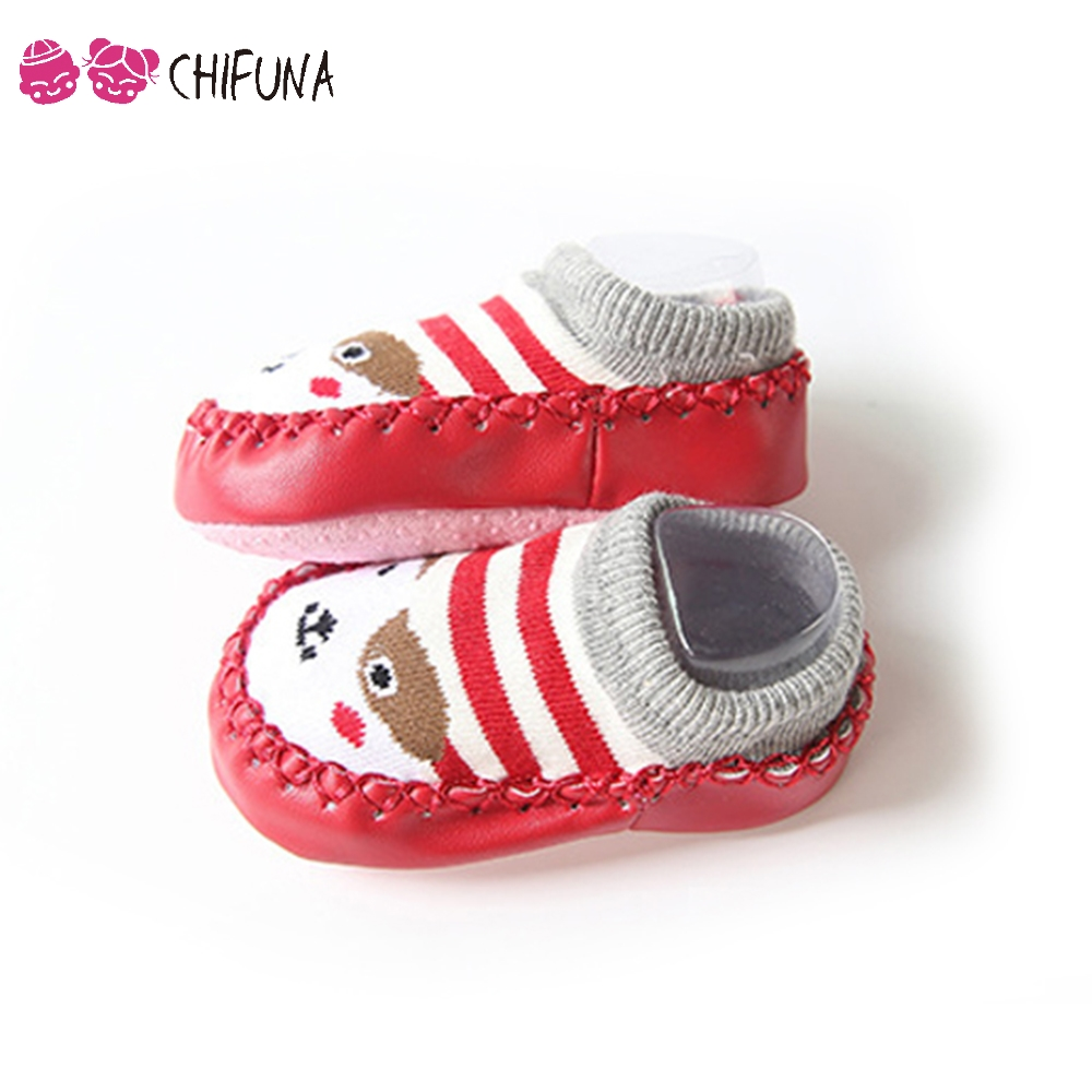 Autumn Winter Baby Footwear Anti-Slip Shoes Cute Cartoon Toddler Socks Home Wear Fashion Infant First Walkers