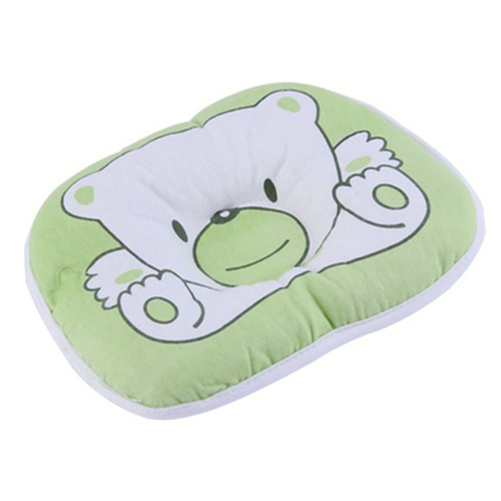 Newborn Infant Baby Bear Pattern Pillow Sleeping Support Prevent Flat  Cushion Plush Animal Shape Cute Soft Pillow