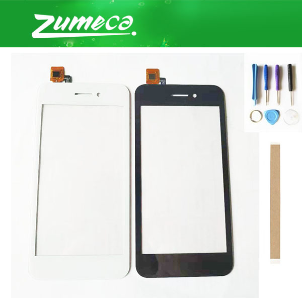 High Quality 4.5 Inch For Fly FS459 Nimbus 16 Touch Screen Digitizer Panel Lens Glass Black White Color With Tape&Tool image