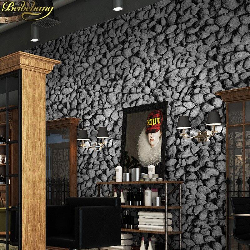 Beibehang papel de parede 3D pierre pavée 3D papier peint mural rouleau Restaurant Bar balcon TV fond d'écran papier peint pour murs 3 d