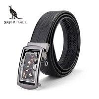 Men'S Belt Belts Famous Brand Waistband Suspenders Genuine Leather Gold Man Black Stretch Buckles For Dress Luxury Brand Ratchet