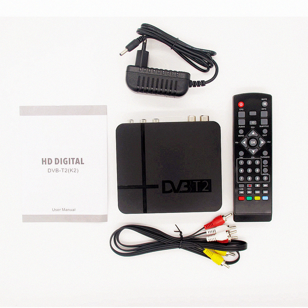 HD DVB-T2 TV receptor TV box DVB T2 receptor terrestre DVB-T2 HDMI Set Top Box para Rusia/Europa/ columbia DVBK2