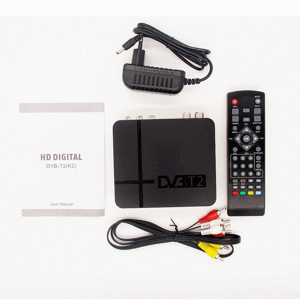 HD caixa de TV RECEPTOR de TV DVB Receptor Terrestre T2 DVB-T2 DVB-T2 HDMI Set Top Box Para A RÚSSIA/Europa/ columbia DVBK2