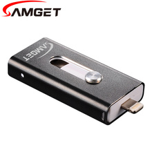 Samget Micro USB 2.0 Interface Pen Drive For PC/IOS/Samsung USB Flash Drive Lightning Data For iPhone/iPad/iPod 8G/16G/32G/64G