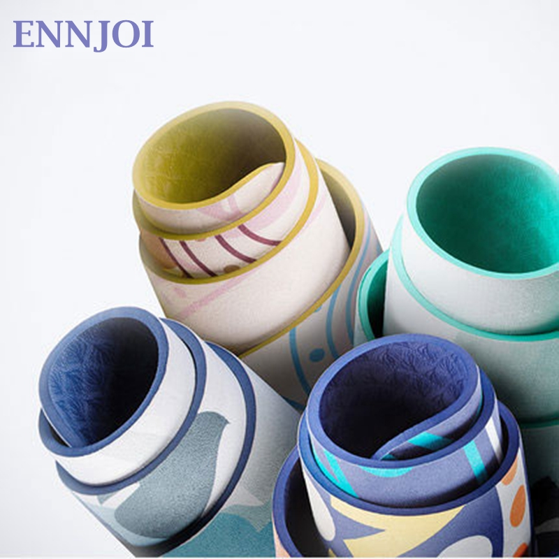 ENNJOI 183*61cm*5mm Chammy Suede Yoga Mat Eco-friendly Slip-resistant Best Yoga Mat Folding Gym Fitness Mats Pilates Yoga Mat dmasun slip resistant yoga blanket good quality gymnastics yoga mat towel non slip fitness bikram towels