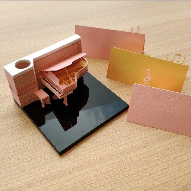 3d note papier modèle belle autocollants notes Carte De jouet Modèle Jeux De Construction de mode Piano hotsale enfants d'anniversaire De Noël cadeaux jouets