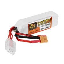4PCS ZOP Power 11.1V 600mAh 70C 3S Lipo Battery JST XT30 Plug for Lizard95 FPV R
