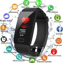 Smart Wristband Blood Pressure Heart Rate Monitor Fitness Tracker Smart Watch Fitness Bracelet Waterproof Weather Display Sport