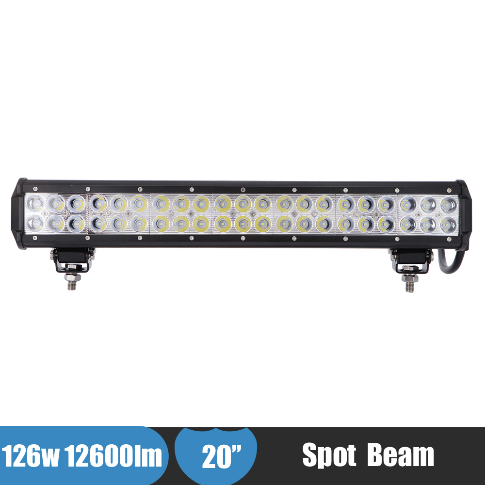 20Inch Off-road LED Light Bar 126W Car Suv 4x4 Truck Trailer Camper Tractor Driving Work Light Bar for Ford Explorer Lexus LX570 5inch 72w two rows led light bar modified off road lights roof light bar for car vehicles suv