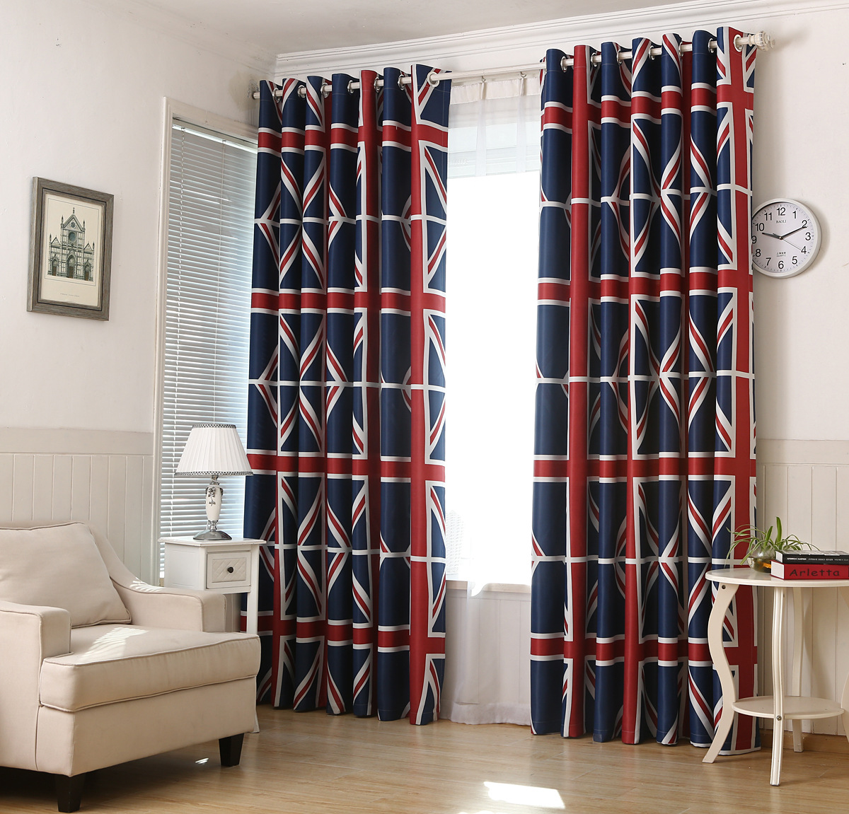 Korean Style Green Curtains For Living Dining Room Bedroom Shade Cloth UK M Word Flag Of The United States England Bar Section In From Home