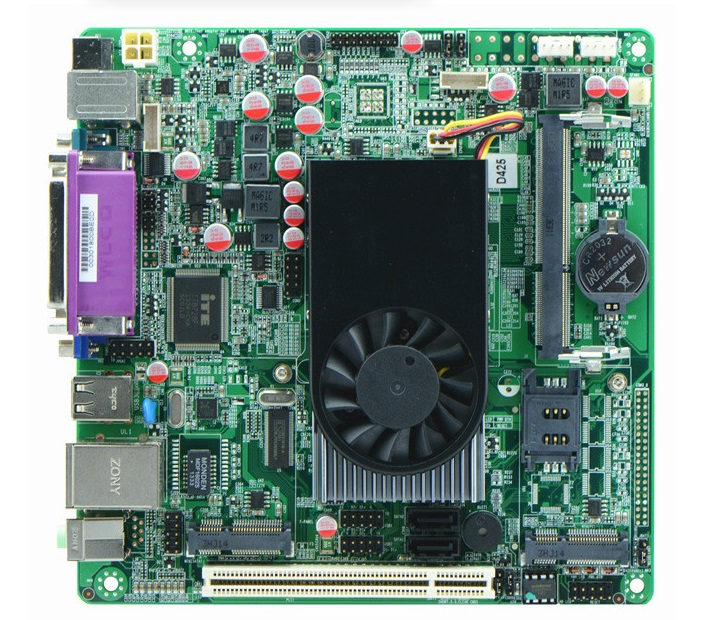 купить Atom D425 POS Motherboard with 2*VGASingle 18bit LVDS POS Machine Mini Itx Industrial Motherboards онлайн