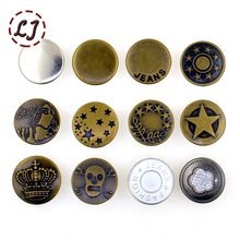 New arrive 10sets/lot 17mm bronze fashion metal jeans button shank button for garment pants sewing clothes accseeories handmade
