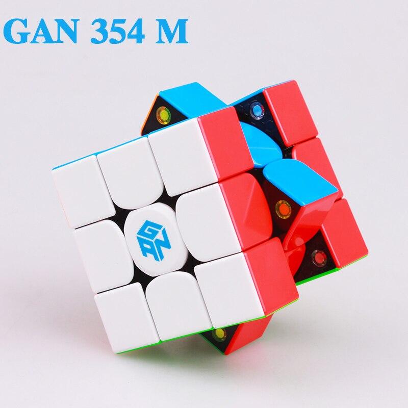 GAN354 M 3x3x3 imanes rompecabezas cubo mágico profesional velocidad gans cubos magnéticos cubo mágico juguetes para los niños o los adultos