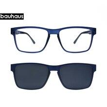 36c1cbb0ce90d High End Qualidade Óculos Ópticos Quadro Homens Grampo Em Ímãs Óculos de Miopia  Polarizada óculos de