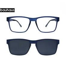 643c6fec24faa5 Haut de Gamme Qualité Optique cadre de lunettes Hommes Clip Sur Aimants  Polarisées lunettes de myopie lunettes de soleil monture.