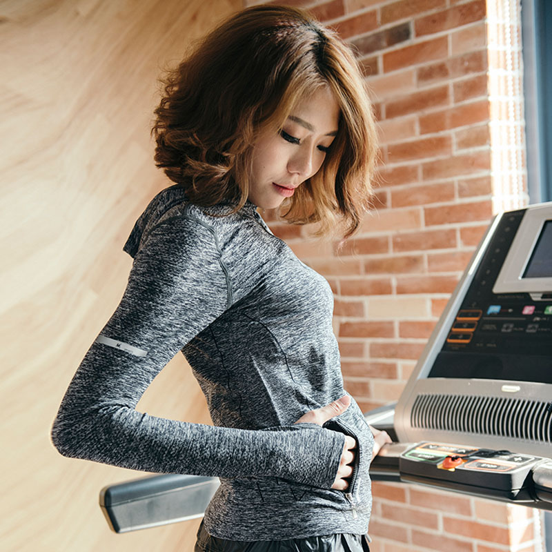 Nouveau sexe femmes Zipper Yoga chemises séchage rapide Fitness femme Sport veste Hoodies pas cher collants de course Shapewear dames vêtements de Sport