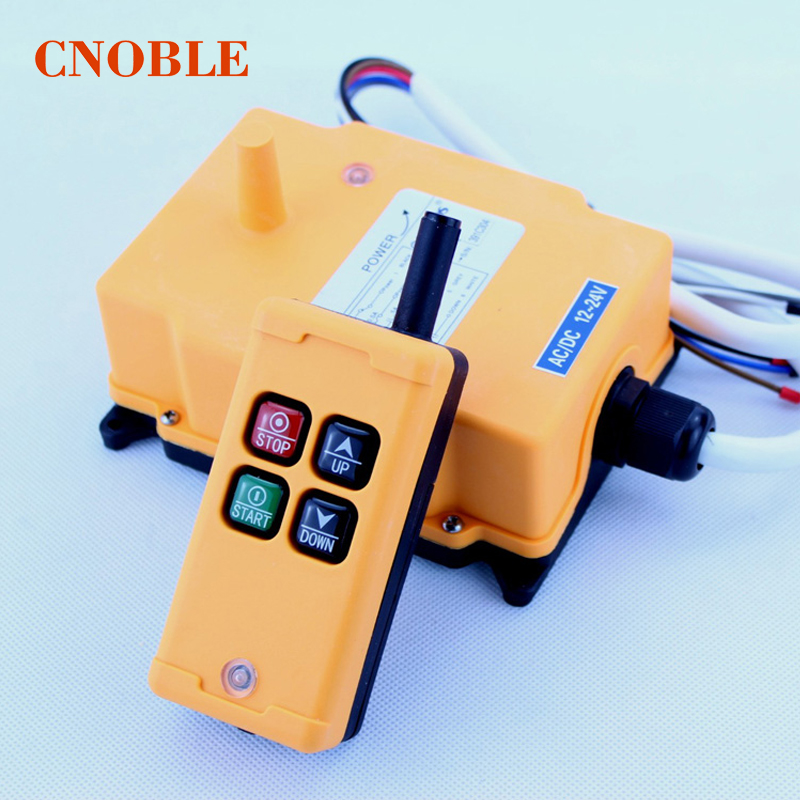 HS-4 4 Channels 1 Speed Control Hoist industrial wireless Crane Radio Remote Control System hs 4 48vdc 4 channels hoist crane radio remote control system
