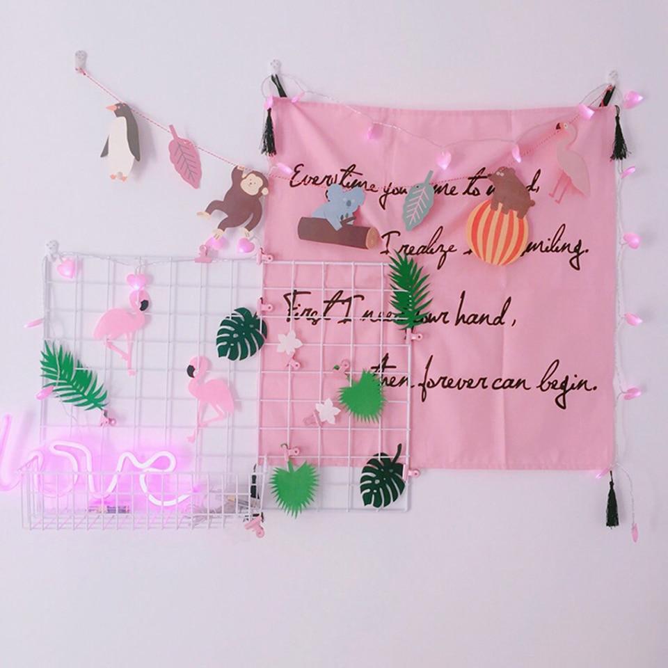 2x 10LEDs Lantern Pink Fairy Love Heart Navidad String LED Lights DIY Home Decor
