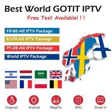 GOTIT Best World IPTV Subscription For French Arabic Swedish Spanish Portuguese Israel Holland Nordic IP TV Android Smart TV M3U(China)