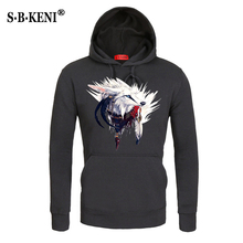2018 3D snow Wolf hoodie men's cotton polyester men's hoodie hip jacket animal top class sweatshirt fashion brand
