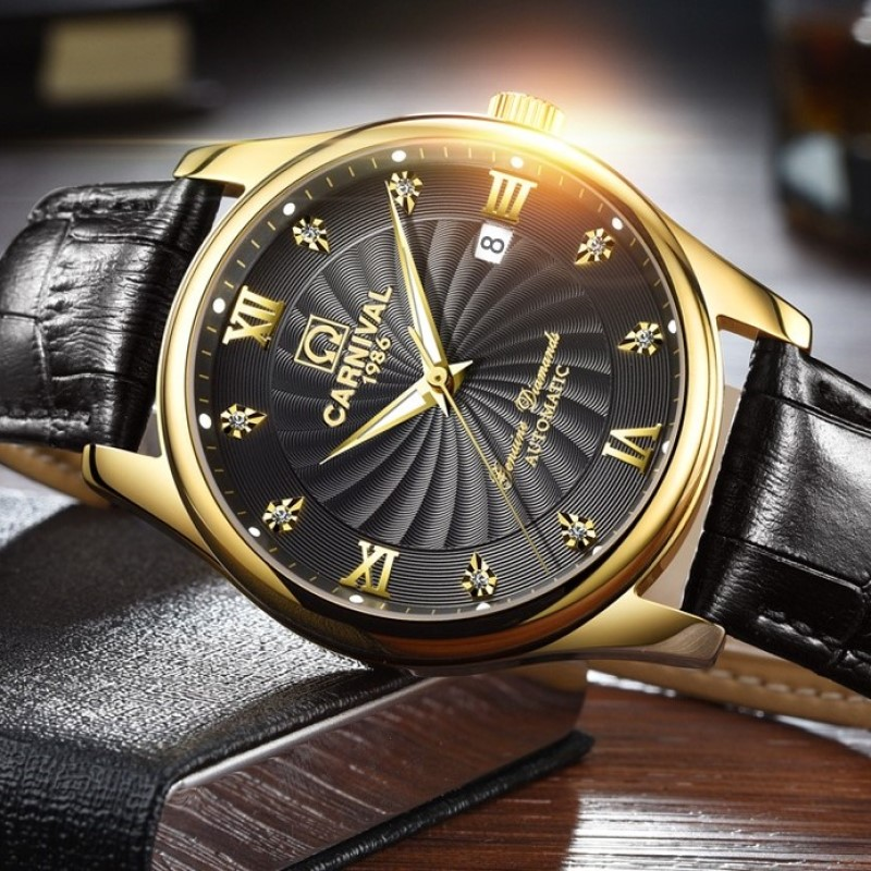 CARNIVAL Men's Watches Top Brand Luxury Business Fashion Mechanical Watch Men Automatic Waterproof Sport Watch Relogio Masculino|Mechanical Watches| |  - title=