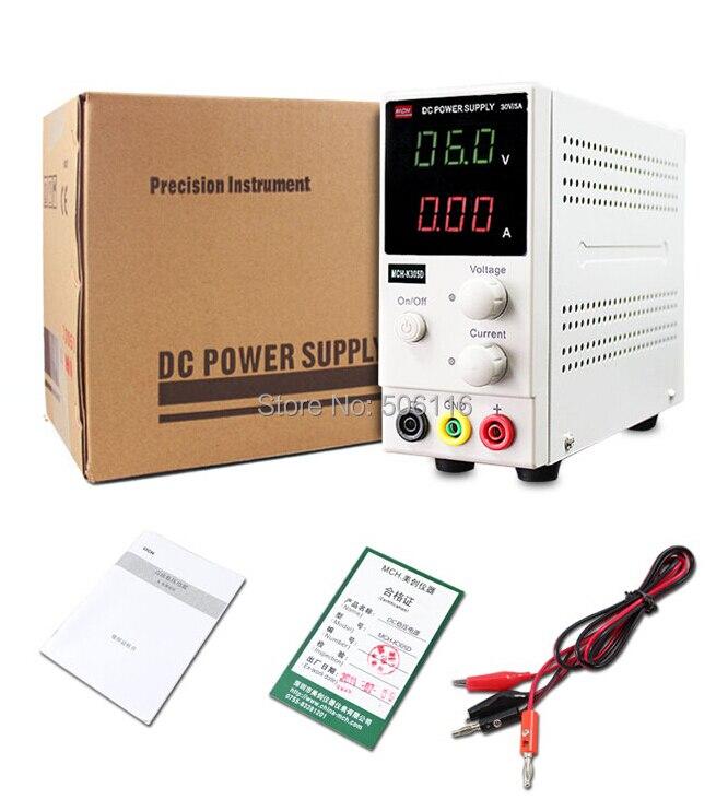 Nouveau 0 ~ 30 V 0 ~ 5A Portable Mini DC régulé réglable DC alimentation téléphone Portable/ordinateur Portable puissance de réparation
