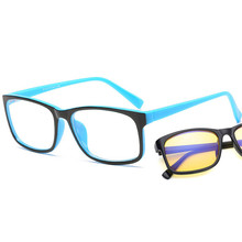 3307112c6 مكافحة الأزرق أشعة الكمبيوتر نظارات الرجال النساء الأزرق ضوء طلاء الألعاب  نظارات الأصفر العدسات حماية العين الرجعية نظارات