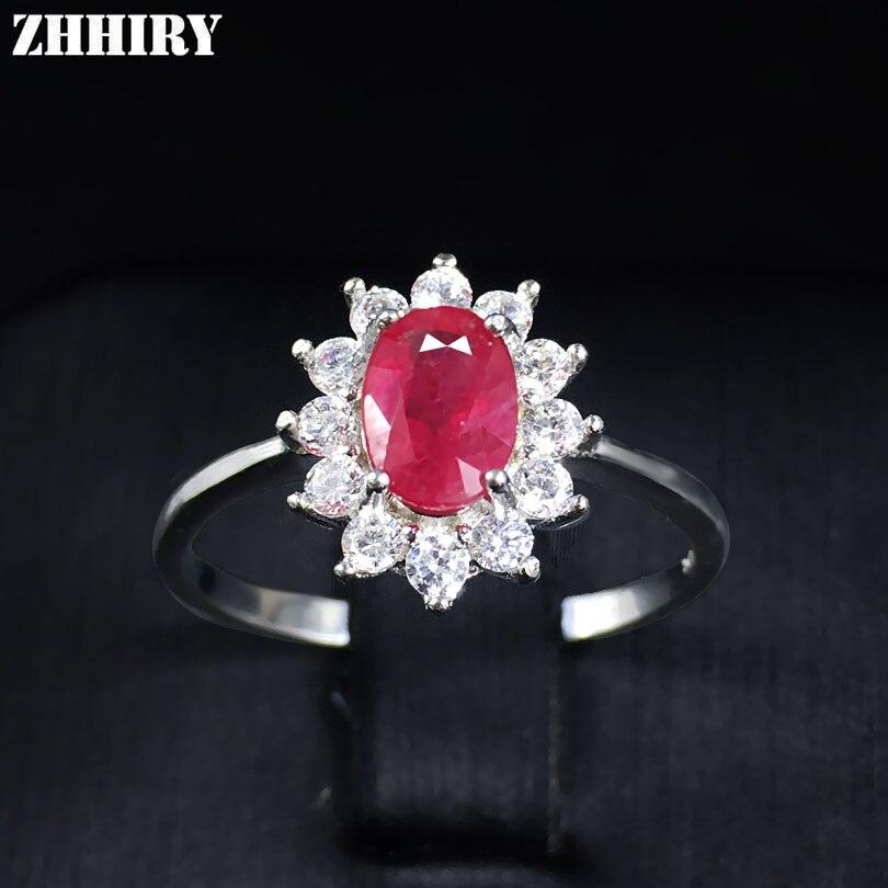 Bague en pierres précieuses rubis naturel véritable solide 925 argent Sterling femmes bijoux fins classique