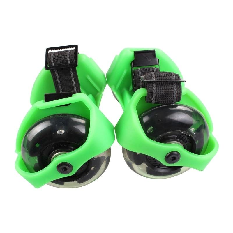 Pour adulte clignotant rouleau petit tourbillon poulie flash roue Skate chaussures clignotant rouleau chaussures - 3