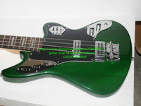 Custom Bass Guitar Newest Green 4 Strings Electric Bass High Quality Top Musical Instruments Free