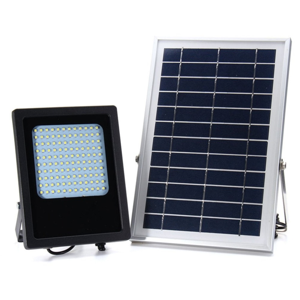 120 LED Solar Powered Garden Light Remote Control Courtyard Lamp Street Landscape Flood Light for Outdoor