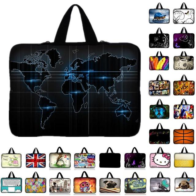 """world map notebook laptop Sleeve Case for 9.7 inch 10 11.6"""" 13 13.3"""" 14"""" 14.4"""" 15 15.6"""" 17"""" 17.3 laptop tablet bag"""