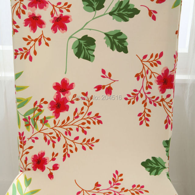 Floral print Chair Cover Home Dining elastic Chair Covers multifunctional Spandex elastic cloth Universal Stretch