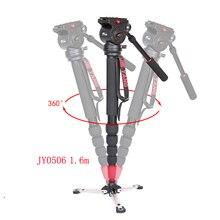 Jieyang jy0506 jy0506b alumínio profissional tripé de vídeo monopé para câmera vídeo dslr filmadora & panorâmica fluido cabeça & saco
