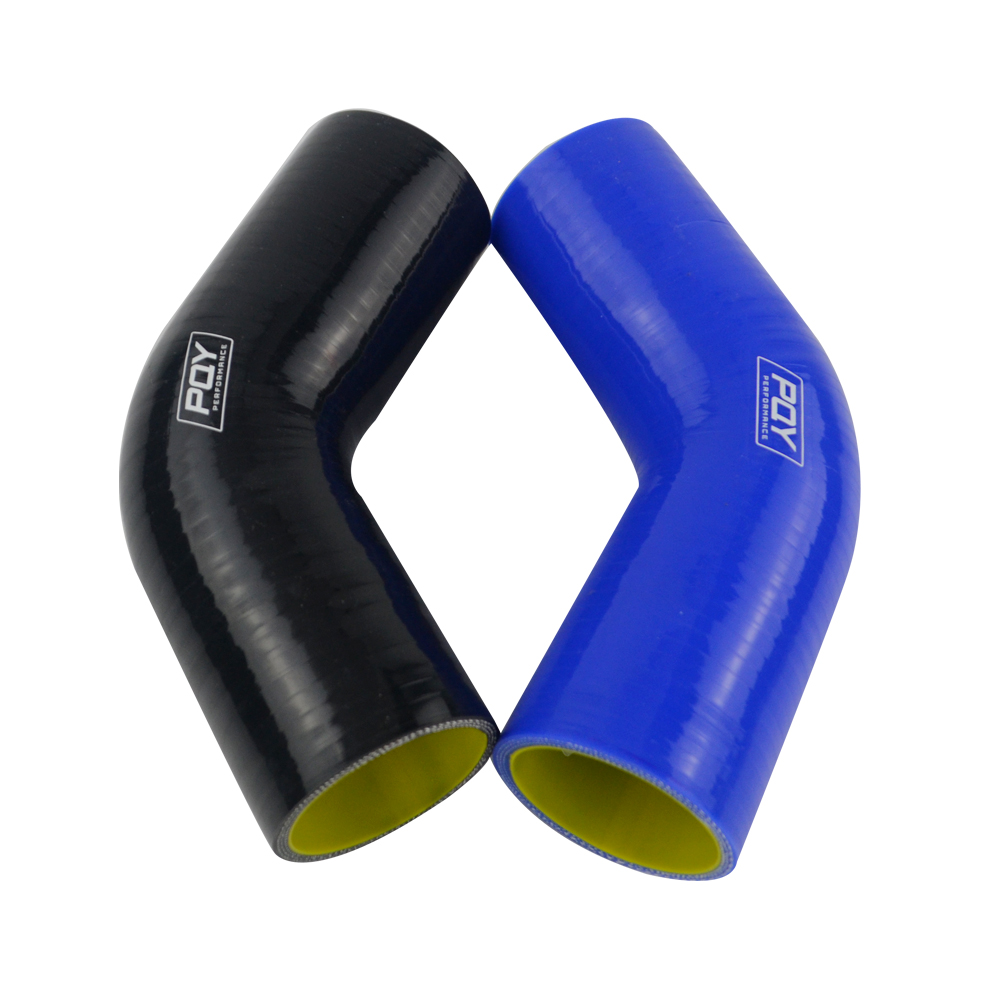 "Image 3 - Blue / Black & Yellow 2.0"" 2.5"" 3"" 51mm 63mm 76mm 45 Degree Elbow Silicone Hose Pipe Intercooler Turbo Intake Pipe Coupler Hose-in Hoses & Clamps from Automobiles & Motorcycles"