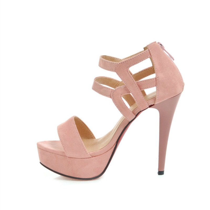 Mujer Sandalias De Moda Alto Zapatos negro Beige Banquete Sexy rosado Tacón q5fZTw