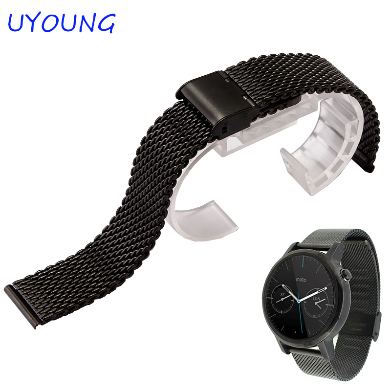 High Quality Stainless Steel Watchband 18mm Milanese Mesh Belt Silver Black Watch Accessories For HUAWEI Watch