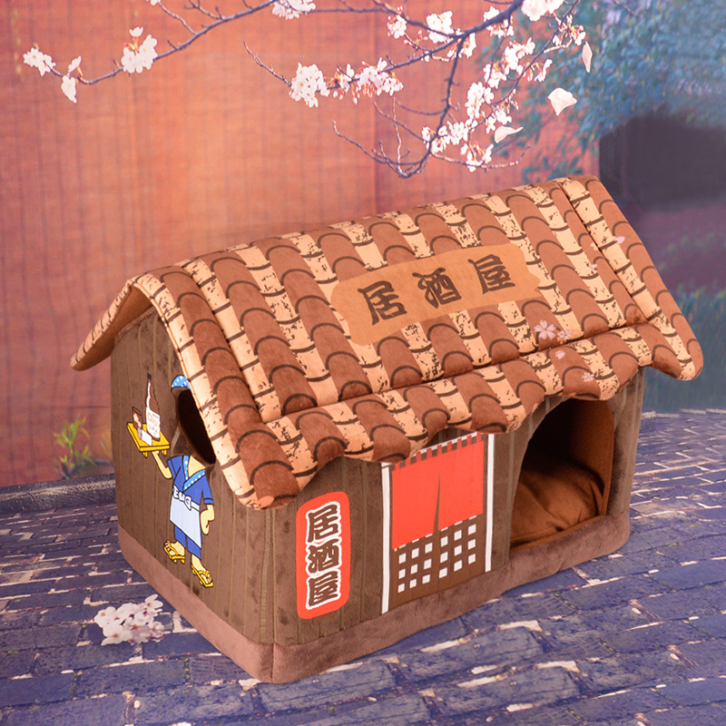 Cute club cat dog pet bed house Soft luxury small dog