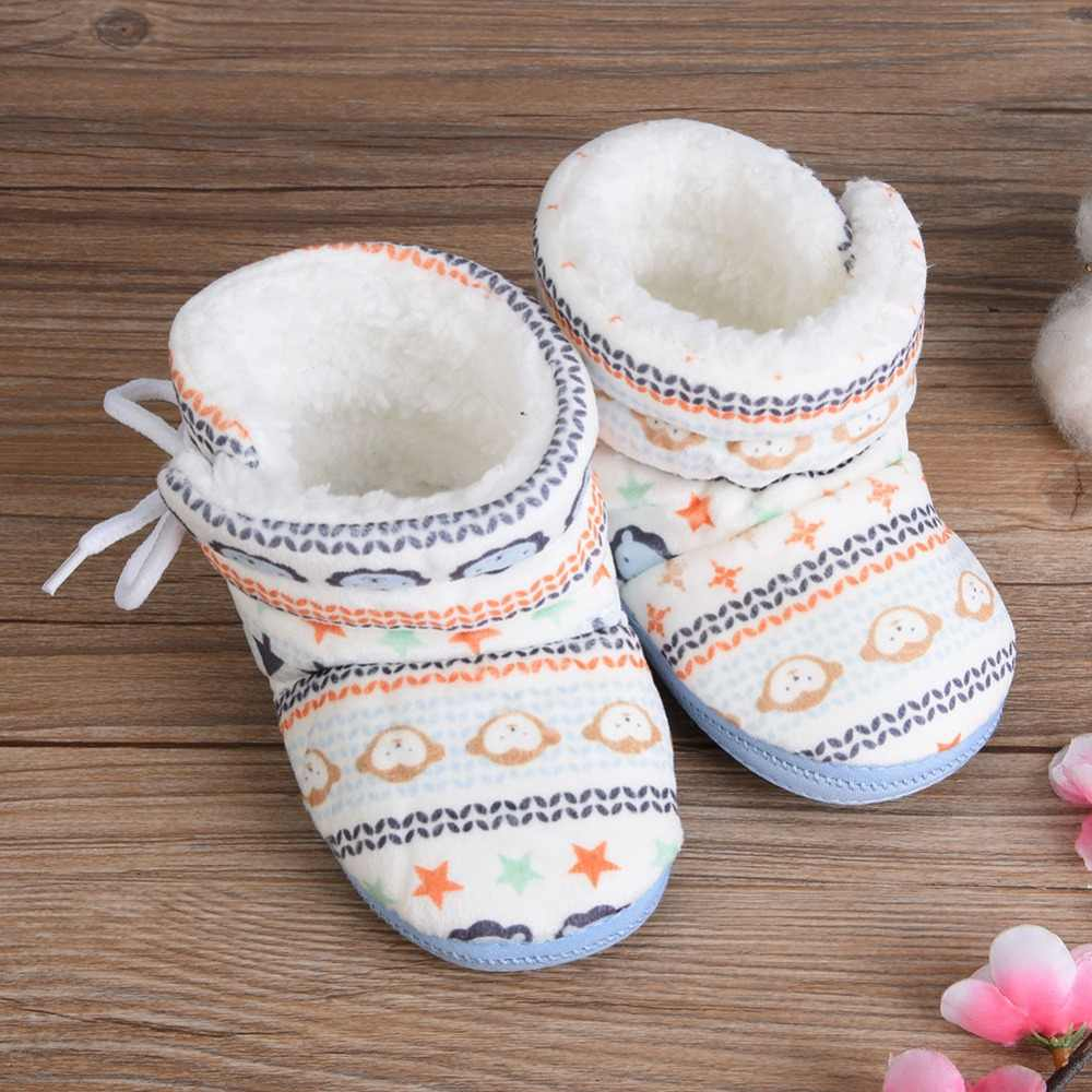 Baby Infant Soft Snow Boots Cute Coral Fleece Winter Snow Boots Toddler Boys Girls Prewalker Warm Shoes 2018 High Quality