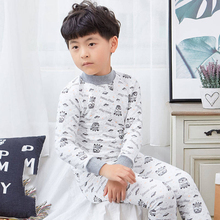 2019 new children's thermal underwear cotton boys and girls three-layer quilted thick children's autumn clothing long pants