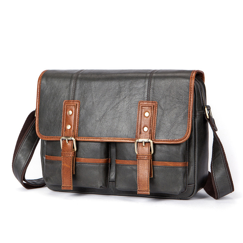 Fashion British Style Shoulder Messenger Bag First Layer Genuine Cow Leather Men Business Tablet Briefcase Casual School Pouch fs british style 100
