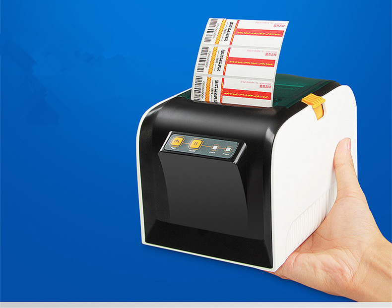 NEW GP3100TU Barcode label printers Thermal clothing label printer Support 20-80mm width printing high quality 58180tf barcode label small ticket printers clothing label printer support 20 58mm print speed is very fast