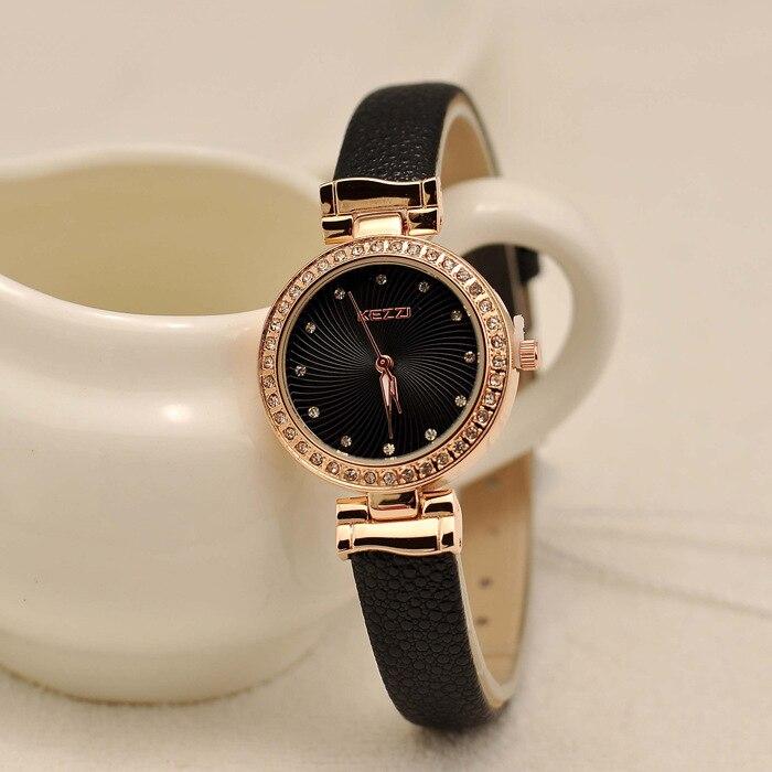 2016 New Arrival Brand KEZZI Sun Pattern Rhinestone Ladies wristwatch Ladie Temperament Wilds Watches Quartz Watches Wholesale