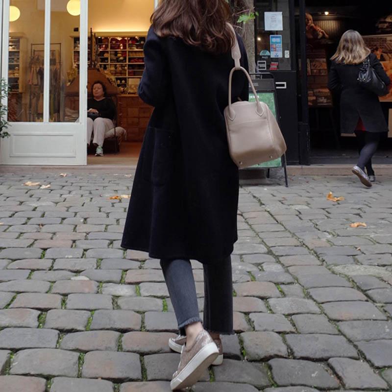 2019 ZANZEA Women Wool Blends Coat Winter Autumn Female Long Sleeve Double Breasted Long Jacket Plus Size Casual Windbreakers 10